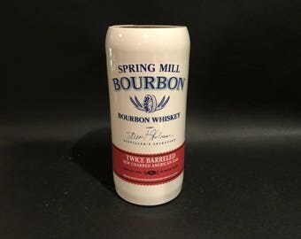 Spring Hill Bourbon Candle Bourbon Whiskey BOTTLE Soy Candle. With.Without Attached Base. 750ML. Made To Order. Ceramic Bottle
