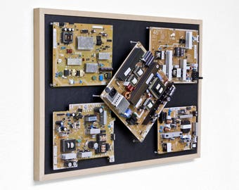 "Free Shipping | Industrial, Computer, Circuit Board Picture Frame Wall Art (28.5"" x 20.5"")"