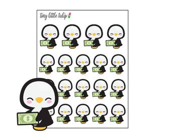 Planner Stickers Penguin Payday