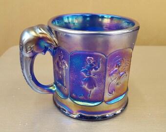 Imperial Glass Aurora Jewels Nursery Rhyme Mug Elephant Carnival