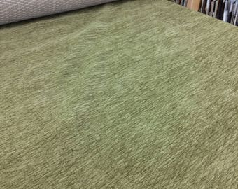 GREEN Chenille upholstery fabric!  CLOSE OUT prices!!