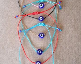6 different colors Evil Eye, Protection ,Bohemian, Evil Eye bracelet, BRACELET, stylish bracelet, macrame, luck bracelet