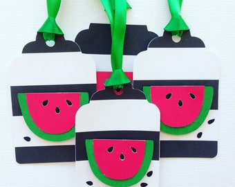 Watermelon party favor tags/gift tags