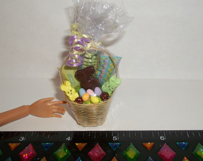 Featured listing image: Dollhouse Miniature Handcrafted Easter Egg Dessert Basket Food for fashion sized dolls - reference Barbie hand for size #1431