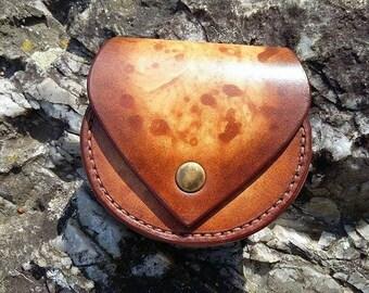 Orange/brown leather wallet