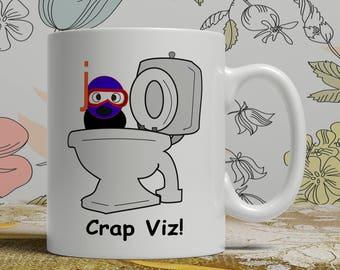 Scuba diving coffee mug scuba diving mug scuba diver mug scuba diver coffee mug scuba diver gift idea scuba diver crap viz funny mug E1234