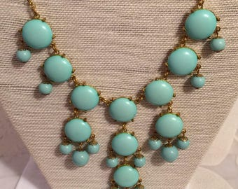 Light Aqua J.Crew(?) Bubble Necklace