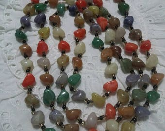 Multi colored beaded vintage necklace.
