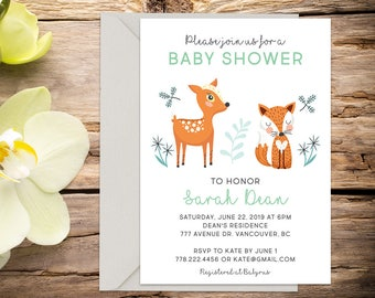 Baby shower invite with Setup, baby shower, gender neutral invitation, shower invitation, printable invitation, invitation template