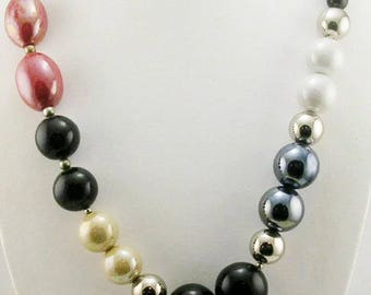 """Joan Rivers Multi Color  Glass Bead Necklace   26"""""""