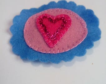 girl pink and blue hair clip