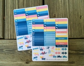 Candy Girl Workout Add-On // Weekly Planner Sticker Add On Kit (35+ Stickers)