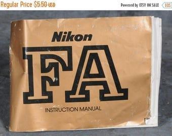 Summer Sale Nikon FA Instruction Manual