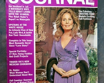 Ladies Home Journal Magazine September 1973 Cristina Ford ,Upstairs in the White House