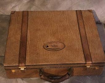 Vintage GOLDPFEIL CARACCIOLA Beautiful Leather Attache Briefcase 1980s