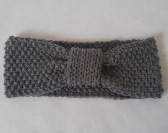 Grey Knitted Headband