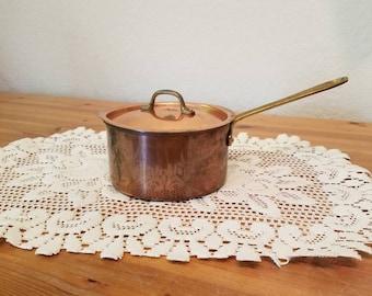 Vintage Copper Sauce Pot