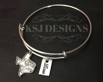 Love Texas Charm Bracelet