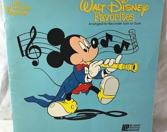 1981 Walt Disney Favorites; Let's Play Recorder Songbook.