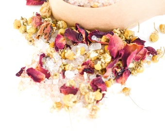 Detox Bath Salts, Bath Salts, Bath Soak, Rose Bath Soak, Chamomile Bath Soak, Epsom Salt Bath, Himalayan Salt Bath, Gift for Her