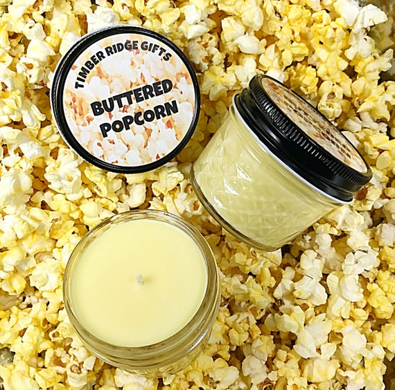 Popcorn Gift - Popcorn Candle - Popcorn Lover - Popcorn Lover Gift - Scented Candles - Soy Candle - Candle Gift - Scented Candle Gift