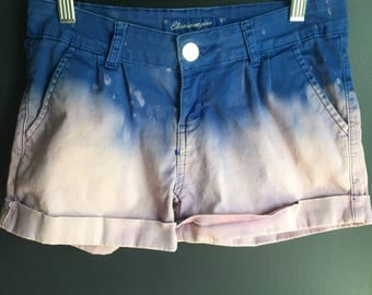 Women size 27 shorts dipped dyed upcycled