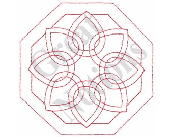 Floral Quilt Block - Machine Embroidery Design