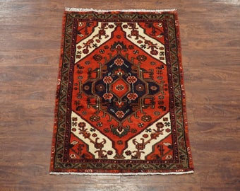 Persian 3X5 Antique Sarab Hand-Knotted Area Rug Wool 1940's Carpet (2.11 x 4.6)