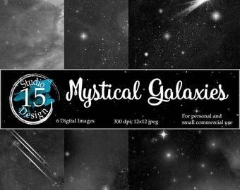 Galaxy Digital Paper- DigiScrap Galaxy, Night Skies Digital Paper, Space Digital Papers, Nebula Digital Paper, Free Commercial Use