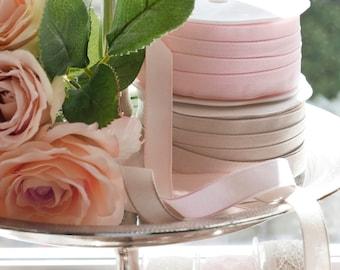 1. RL band * texture * pink or taupe wedding gift Ribbon