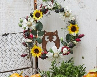 Wreath * sunflower & berries *.