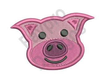 Pig Face - Machine Embroidery Design