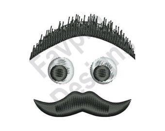 Mustache Face - Machine Embroidery Design