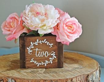 Wedding Centerpiece Decor, Wedding Table Numbers, Wedding Centerpiece Flower Box, Rustic Centerpiece, Wood Box, Wedding Table, Wedding Decor