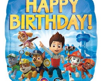 "Paw Patrol Birthday Foil Balloon - Happy Birthday 18"" Foil Balloon for Paw Patrol Birthday"