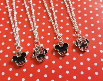 Mickey or Minnie inspired charm bracelet