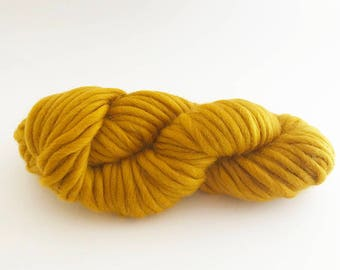 Super Chunky Merino Yarn - 50 grams - Mustard