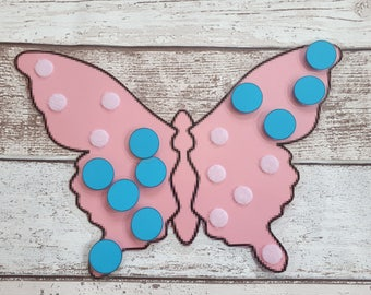 Butterfly numeracy activity, number game, number bonds to 10, numeracy resource, counting activity, early years game, EYFS, SEN, count 10