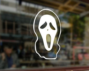 Ghost Face SCREAM Horror Art Vinyl Stickers Funny Decal Bumper Car Auto Computer Laptop Wall Window Glass Skateboard Snowboard Helmet