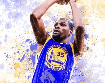 """Kevin Durant  13"""" W x 19"""" H Poster"""