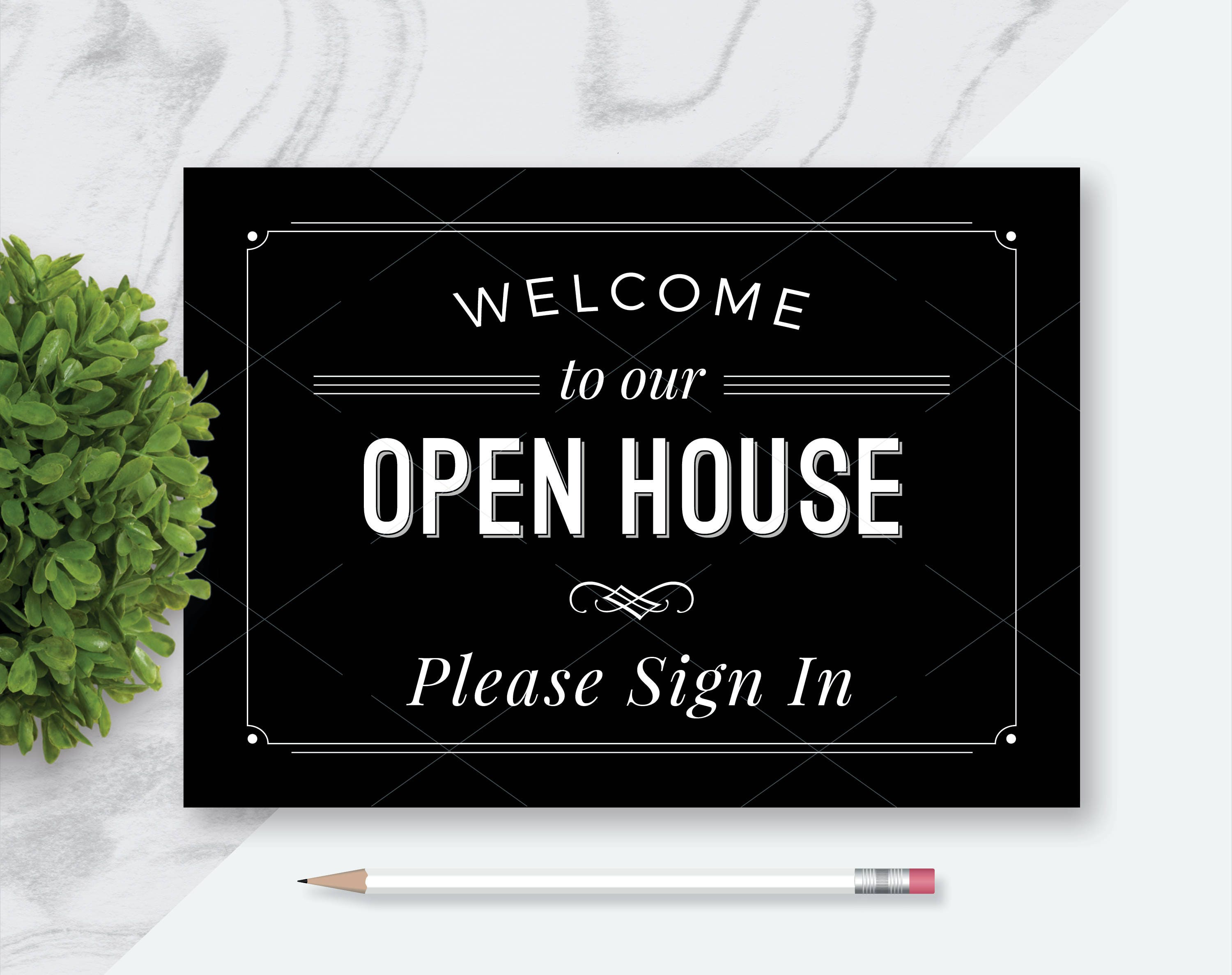 photo regarding Welcome to Our Open House Printable identified as open up dwelling printables -