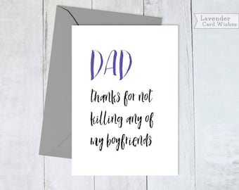 Fathers day card funny Dad card Fathers day gift from daughter Funny card for dad Gift for dad Bday cards for dad Gift for dad ideas