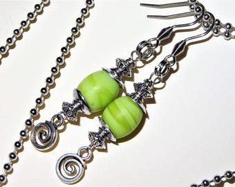 Green Drop Silver Ear Wire, Gift for Her ,  Green Jewelry,Green Earrings, Green Drop Earrings,Dangle & Drop Earrings ,Wedding Jewelry