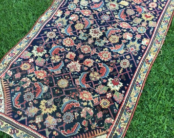"1880s Antique Russian Rug 3'3"" x 5'9"""