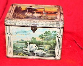 Metal lithographed Van melle's box
