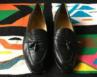 Vintage YSL Yves Saint Laurent Leather Tassel Loafers
