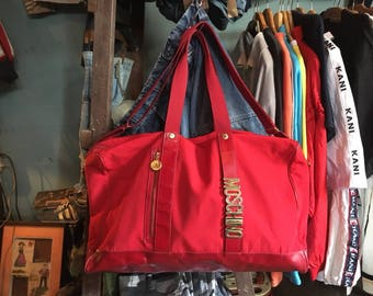 Vintage 90s MOSCHINO Duffel Bags