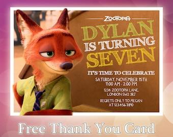 Zootopia Invitation / Zootopia Printable Invitation / Zootopia Custom Invitation / Zootopia Brithday / Pool Party / Judy / Hoops / ZT02