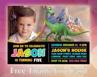 The Good Dinosaur / The Good Dinosaur Invitation / The Good Dinosaur Birthday / The Good Dinosaur Invite / GD03