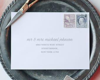 Printable Envelope Addressing Template, Wedding Addressed Envelope, Wedding Envelope Template Printable Envelope Return Address  - KPC02_106